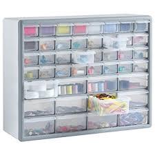 Multi Drawer Storage Cabinet Vonhaus 44 Multi Drawer Storage Cabinet Organiser White Grey
