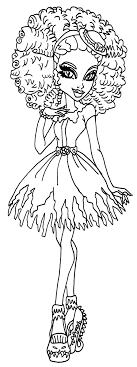 monster high coloring pages frights camera action monster high honey sw coloring pages new jovie co