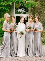 bridesmaid dresses silver best 25 silver bridesmaid gowns ideas on silver