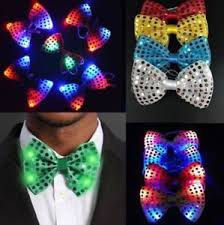light up bow tie flashing light up bow tie necktie led mens party lights sequins