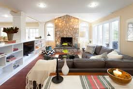 Traditional Family Rooms by Furniture Cozy Sectional Sofa In Traditional Family Room With