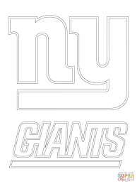 new york giants logo coloring page free printable coloring pages
