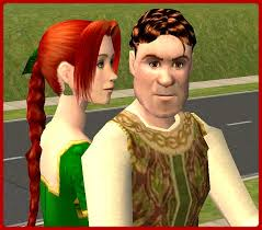 mod sims shrek fiona human form movie shrek2