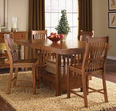 laurelhurst rectangular gathering height dining table in mission