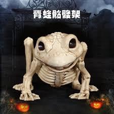 Halloween Decorations Skeleton Bones by Aliexpress Com Buy Skeleton Cat Frog Fish Owl 100 Plastic