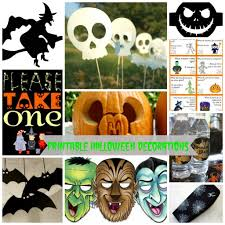 Halloween Paper Decorations Printable by Printable Halloween Decorations
