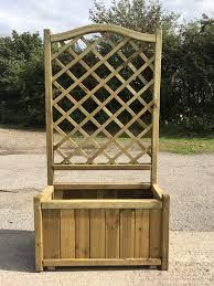 melrose planter with trellis half price sale simply wood