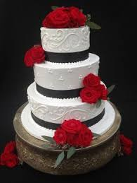 black and white and red wedding cakes red white and black