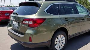 green subaru outback 2017 2016 wilderness green outback youtube