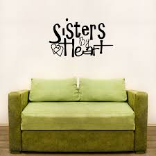 sisters by heart wall art decals sisters by heart wall art decal