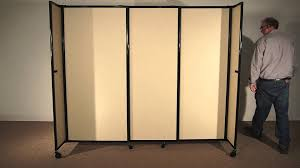 straightwall portable sliding room divider by versare youtube idolza