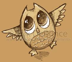 cute owl sketch by erikdeprince on deviantart