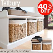 storage benches with baskets home design white wood photo with