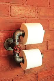 toilet paper holder etsy industrial pipe double roll toilet paper holder farmhouse bathroom decor