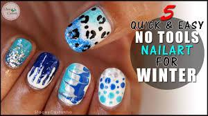 5 easy no tools nail art designs for winter holiday season youtube