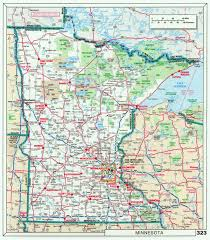 Maps Of The Usa Large Detailed Roads And Highways Map Of Minnesota State With