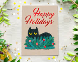 funny cat cards 5 black cat card christmas cards funny