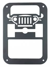 jeep wrangler sport logo amazon com xyzctem 2 x tail lamp tail light cover trim guards