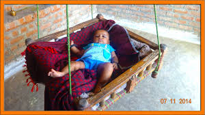 Antique Baby Cribs For Sale by Baby Swing In Indian Village Baby Cradle Youtube