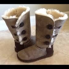 womens ugg triplet boot 14 ugg boots ugg bailey button triplet bomber boots sz
