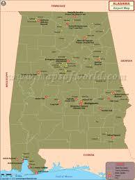 Alabama Florida Map by Airports In Alabama Alabama Airports Map