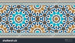 Morocco Design Morocco Seamless Border Traditional Islamic Design Stock Vector