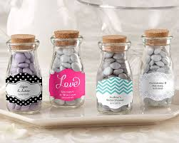 wedding favor containers vintage personalized milk favor jar wedding set of 12