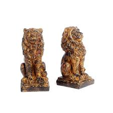 bookends lion lion bookends