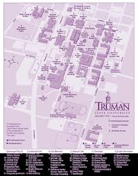 Missouri State Map Campus Map Truman State University