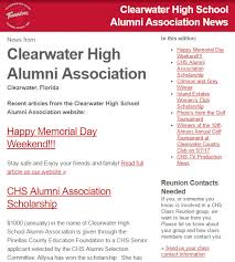 high school senior mailing list subscribe clearwater high alumni association