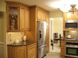 Kitchen Cabinets Refrigerator Surround by Kitchen Top Notch Kraftmaid Kitchen Cabinet With Black Marble