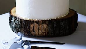 tree stump cake stand tree trunk cake stand with engraved initials but would like to