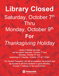 closed october 7 9 for thanksgiving weekend