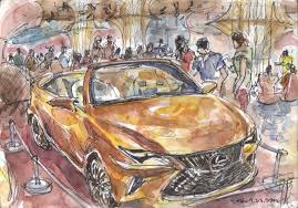 lexus forum aachen sketches at an a uto showroom in lotte world mall urban sketchers