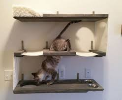 cat wall furniture three level cat wall bunker for cats that enjoy jumping and