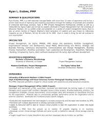 pmo sle resume 28 images project management certificate resume