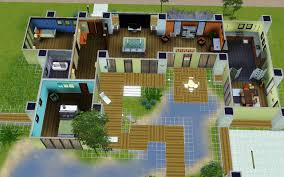 Beach House Floor Plans by Home Design Modern House Floor Plans Sims 4 Transitional Medium