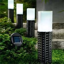 Solar Powered Bollard Lights - amazon com solar lights sogrand 4pack rattan outdoor solar