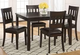 five piece dining room sets dark rustic prairie 5 piece dining room set from jofran coleman