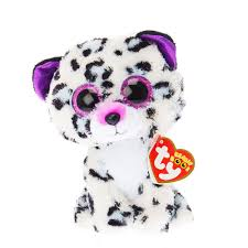 ty beanie boo small violet leopard soft toy claire u0027s