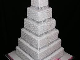 wedding cakes with bling square bling wedding cake cakecentral