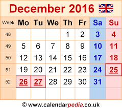 Excel Monthly Planner Template Calendar December 2016 Uk Bank Holidays Excel Pdf Word Templates