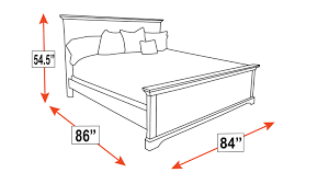 King Bed Dimensions Gladewater King Bed Gallery Furniture
