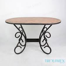 oval patio table ceramic mosaic iron oval table for garden patio outdoor triquimex