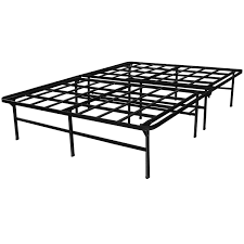queen size heavy duty metal platform bed frame supports up to