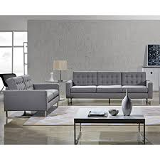 Fabric Modern Sofa Angela Fabric Modern Sofa Loveseat And Chair Set Hour Modern