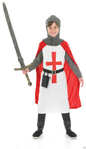 boys english crusader knight costume red medieval st george fancy