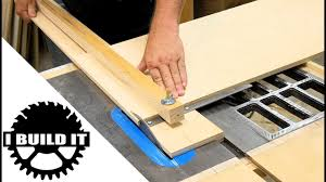 How To Use Table Saw How To Use The Wide Panel Crosscut Jig Youtube
