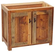 Bathroom Base Cabinets Rustic Wood Bathroom Vanity Base 30 W Cabinets 8681 Cozy Interior