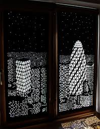 Blackout Curtains Buildings And Stars Cut Into Blackout Curtains Turn Your Windows